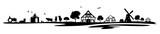 Silhouette Bauernhof und Landwirtschaft - 147145778