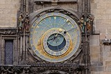 Old astronomical clock detail
