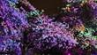 Quadro Tree illuminated colorful animation