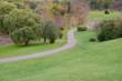 Winding path in the Arboretum park in Ottawa, Canada