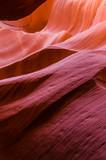 Pink peach wave shapes photographed at slots canyons in Arizona