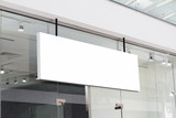 horizontal white signage on shop front - 147435793