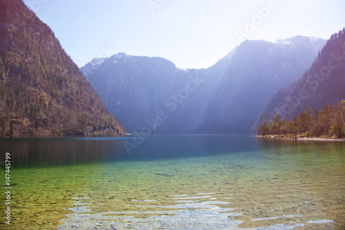 Koenigssee lake in Alps, Germany