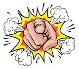 Pop Art Pointing Cartoon Hand - 147449559