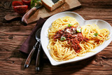Plate of delicious spaghetti Bolognaise - 147477765