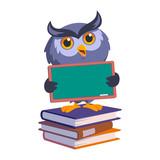 Nice owl, He has a blackboard, vector illustration - 147493974