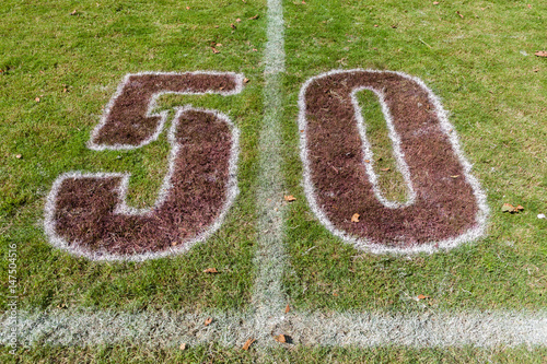 Poster Rugby Field Chalk Markings