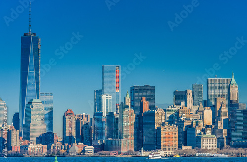 Cityscape with New York. One World Trade Center Poster