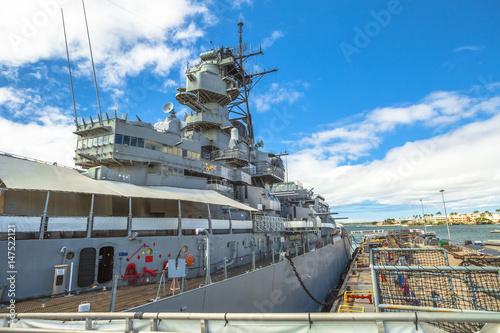 Missouri Battleship Memorial in Pearl Harbor Honolulu Hawaii, Oahu island of United States Poster