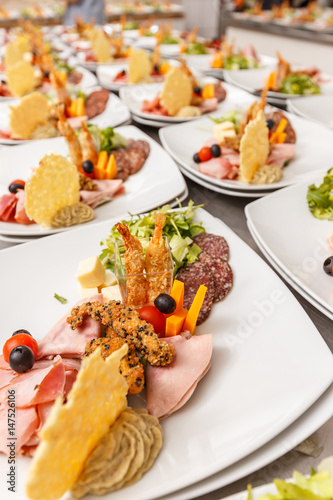 Lot of appetizers plate