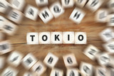 Tokio Stadt Japan Würfel Business Konzept
