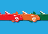 voiture décapotable, coupé sport - 147547726
