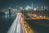 Manhattan Skyline by Night - New York - 147566503
