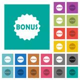 Bonus sticker square flat multi colored icons