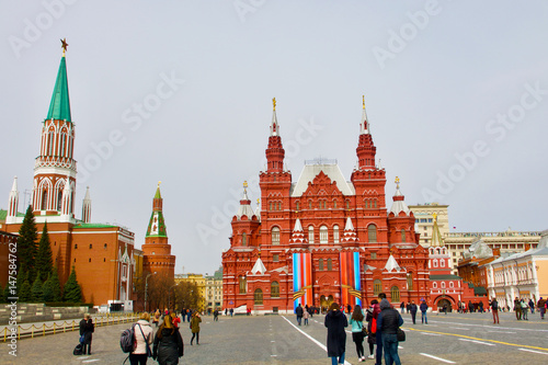 Poster Towers around Red Square in Moscow, Russia.