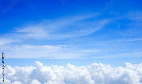 Blue sky above the clouds - 147591372