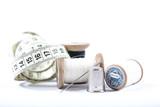 Couture, fil, aiguille, bouton, - 147596159