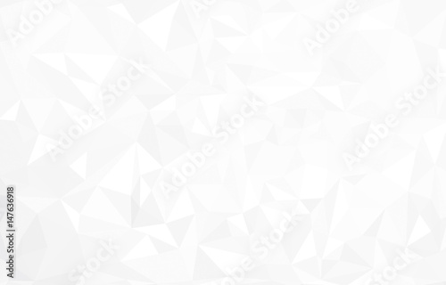 Vector abstract  white triangles background. - 147636918