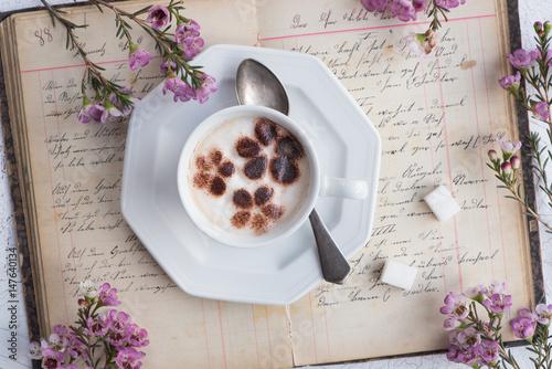 Foto op Canvas Chocolade Cappuccino / Kaffee mit Milchschaum