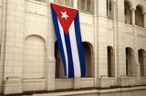 Cuban flag hanging