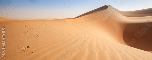 Staande foto Abu Dhabi Patterns an dunes of Empty quarter - arabian desert