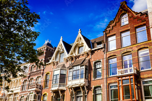 Typical architecture of Amsterdam city, Netherlands
