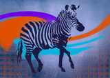 decorative illustration of zebra