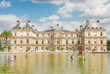 Luxembourg garden and famous pond with boats, Paris, France