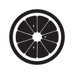 Orange icon flat. Vector grey sign symbol