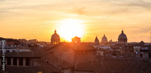 Foto op Canvas Bedehuis Rome, Italy - Aerial view