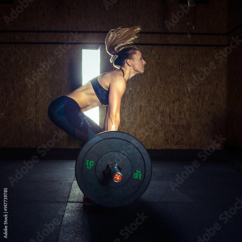 Póster gym hard training woman