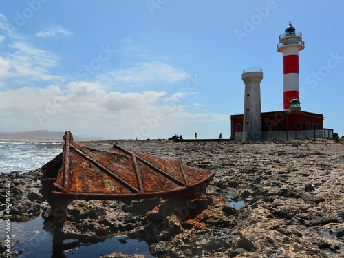 Faro De Toston Lighthouse. Fuerteventura.