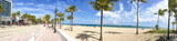 FORT LAUDERDALE, FL - FEBRUARY 2016: Fort Lauderdale promenade with tourists. The city is a famous attraction in Florida - 147893931