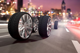 Reifen auf Straße - 147903786