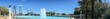 Panoramic view of city skyline with tourists, Jacksonville