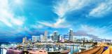 Downtown Miami at sunset, panoramic view - Florida, USA
