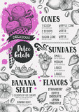 Ice cream menu template for restaurant and cafe. - 147956142