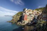 Italie, riomaggiore, cinque, terre, falaise, maison, village, pécheur, typique, traditionnel - 148004176