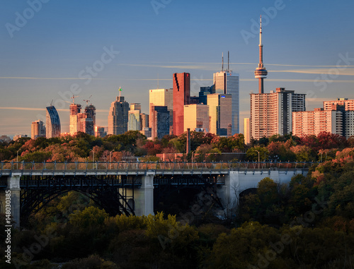 Fotobehang Toronto Toronto, Don Valley Sunrise