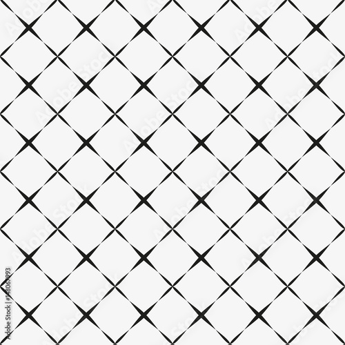 Seamless pattern with geometric shapes and symbols. Vector texture or background pattern. - 148067993