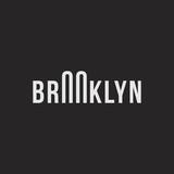Logo of the Brooklyn bridge. Silhouette of the bridge in the font.  - 148129373