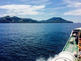 Summer ocean background.On the way to the Gili islands