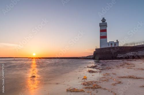 Gardur lighthouse sunset