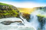 Fototapety Beautiful and famous Gullfoss waterfall in Iceland.