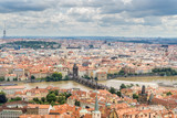 Aerial View of Prague Old Town and Charles Bridge