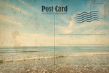 Vintage summer postcard. Ocean and sunny beach - 148290187