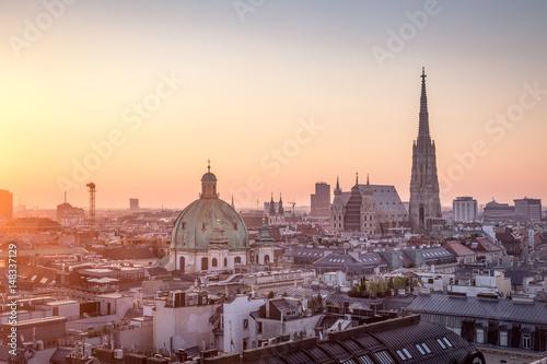 Vienna Skyline with St. Stephen's Cathedral, Vienna, Austria Poster