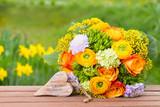 Wunderschöner Blumenstrauß mit Herz