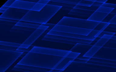 Abstract fractal tech background. Rectangles pattern