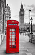London Telephone Booth and Big Ben - 148397562